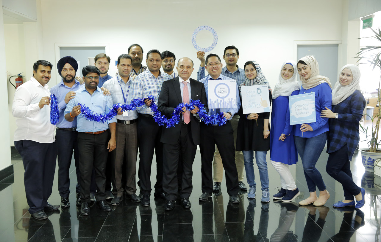 Julphar employees supported World Diabetes Day