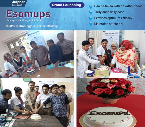 Julphar Bangladesh celebrates Esomups 20 launching program